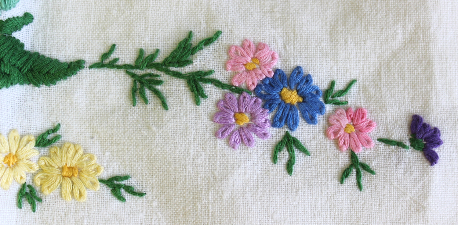 This cloth was given to me by a lovely lady called Lou who trades near me  at the Malvern show; she buys and sells old linens and gives the poorly  ones to ...