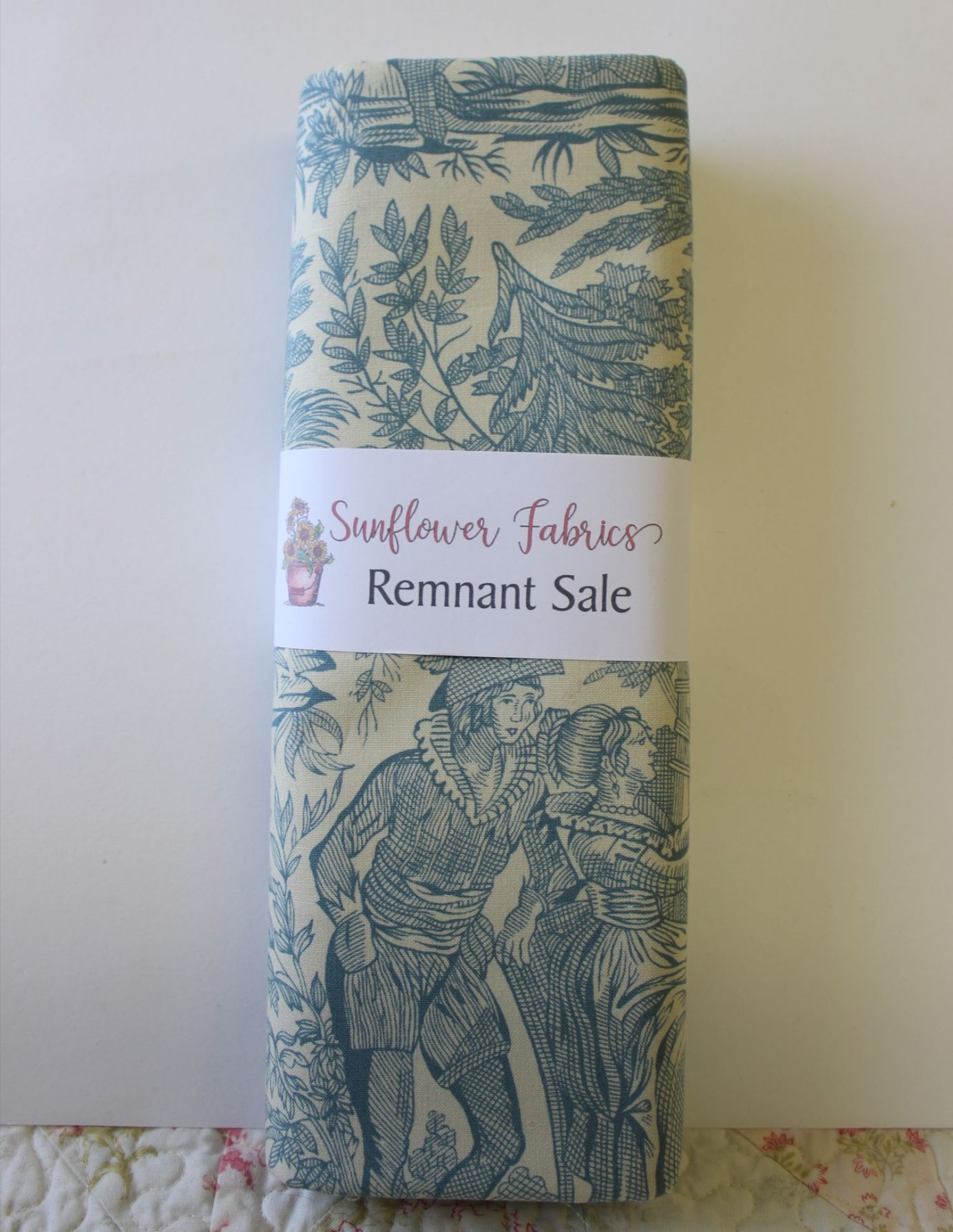 Blue Toile Remnant